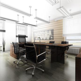 פרקט במשרד מעוצב