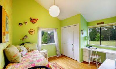 חדר ילדים ירוק