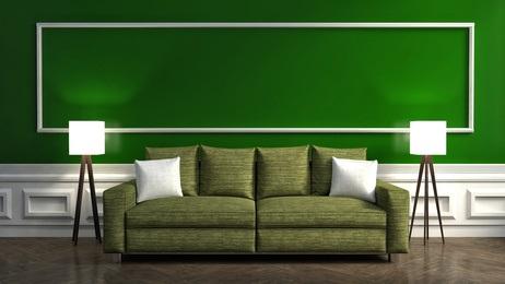 פרקטים מעץ מלא ירוק